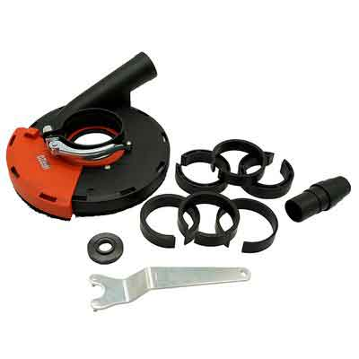 HERZO Universal Surface Grinding Dust Shroud for Angle Grinder 7- Inch