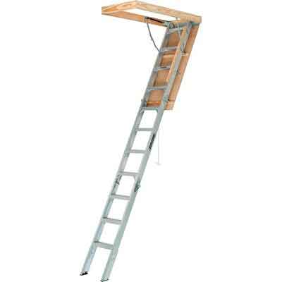 Louisville Ladder AA2210 Elite Aluminum Attic Ladder Type IAA