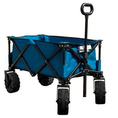 TimberRidge Folding Camping Wagon/Cart - Collapsible Sturdy Steel Frame Garden/Beach Wagon/Cart
