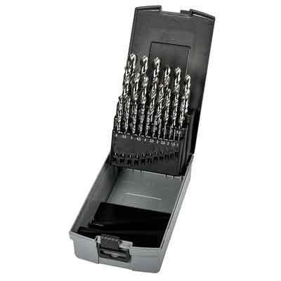 Precision Twist C252ASET 25-Piece Metric High Speed Steel Jobber Drill Bit Set with Size Range 1.0 mm - 13.0 mm x 0.5 mm