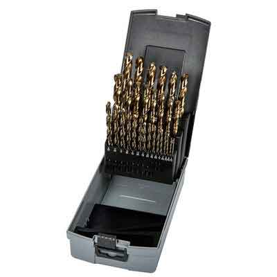 Precision Twist C29R10CO Cobalt Steel Jobber Length Drill Bit Set with Plastic Case