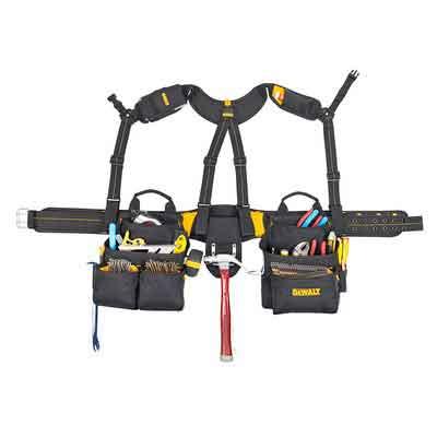 DEWALT DG5617 20-Pocket Pro Framer's Combo Apron Tool Belt and Yoke-style Suspenders
