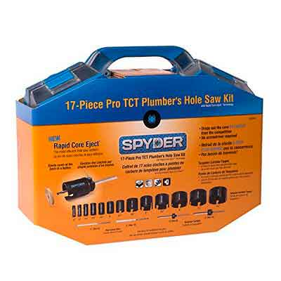 Spyder 600809 Tungsten Carbide Tipped Rapid Core Eject Plumbers Hole Saw Kit