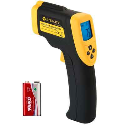 Etekcity Lasergrip 800 Digital Infrared Thermometer Laser Temperature Gun Non-contact -58℉ - 1382℉