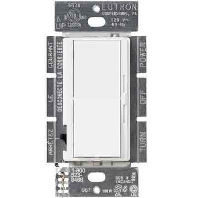 Lutron DVCL-153P-WH Diva Dimmer for CFL