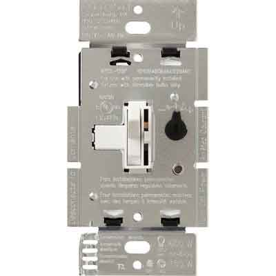 LUTRON TGCL-153PH-WH Toggler Dimmer Switch for LED