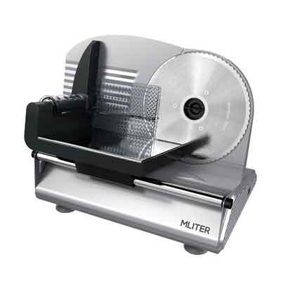 MLITER Electric Food Slicer Machine Precision 7.5-Inch Stainless Steel Blade For Bread and Meat