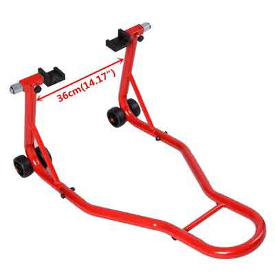 Safstar Motorcycle Stand Sport Bike Rear Forklift Rear Spoolift Paddock Swingarm Lift for Auto Bike Shop