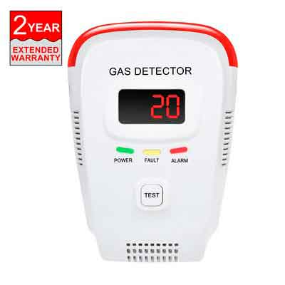 CHUDONG Plug-In Natural Gas Detector Portable Device Able to Detect LPG LNG and Coal Gas Avoid Gas Leak Sensor Detector with Voice Warning and Digital Display