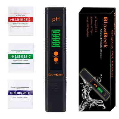 GlowGeek Digital PH Meter / PH Tester / Mini Water Quality Tester for Household Drinking Water