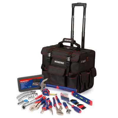 WORKPRO W009029A 176 -Pieces Tool Set With Tool Trolley  Bag