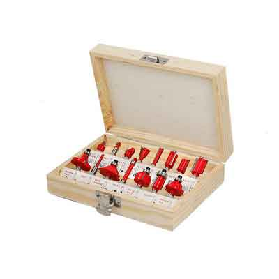Router bits 15 Pcs 1/4 Inch Shank For Starter Router Bits Kit Wood-working Carbide tipped Router Bits Set