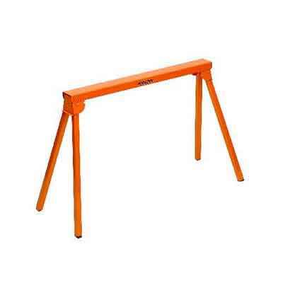 All Steel Folding Sawhorse Portamate PM-3300. 33-Inch Tall Fold-up Heavy Duty Saw Horse. Fully Assembled