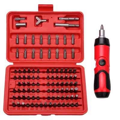 Best Choice 100-Piece All Purpose Security Bit Set with Bonus Ratcheting Screwdriver