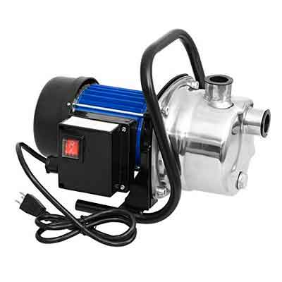 Anfan Shallow Well Portable Transfer Water Pump Irrigation Water Supply Lawn Sprinkling Pump for Home Garden