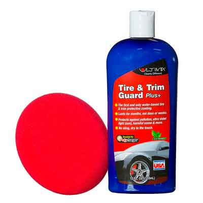 Ultima Tire and Trim Guard Plus Long Lasting Protectant and Sealant with Applicator Kit for Auto