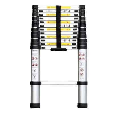 Remylady EN131 Aluminum Telescopic Extension Ladder with Spring Loaded Locking Mechanism