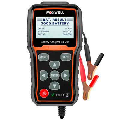 FOXWELL BT705 12V 24V Battery Analyzer 100-2000 CCA Automotive Car Battery Load Tester