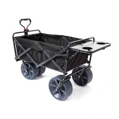 Mac Sports Heavy Duty Collapsible Folding All Terrain Utility Wagon Beach Cart