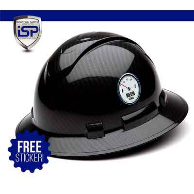 Pyramex Full Brim RIDGELINE Patterned Hard Hat with 6 Point Ratchet Suspension