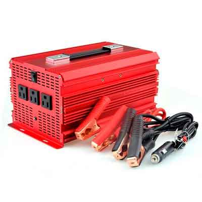 BESTEK 2000W Power Inverter 3 AC Outlets 12V DC to 110V AC Car Inverter