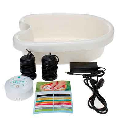 Healcity Ion Ionic Detox Foot Bath SPA Machine w/ Tub Basin
