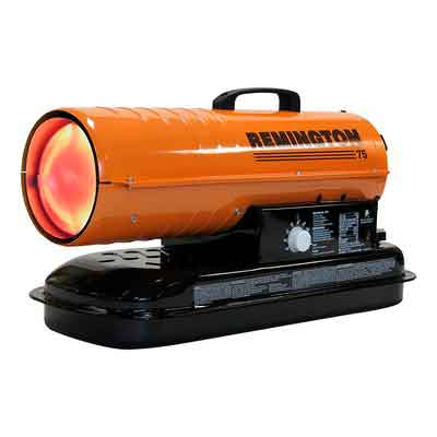 REMINGTON REM-75T-KFA-O Kerosene/Diesel Forced Air Heater with Thermostat