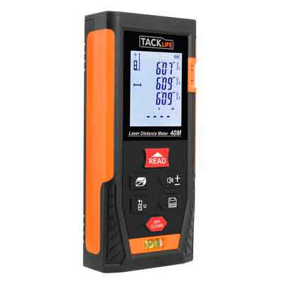Tacklife HD40 Classic Laser Measure 131Ft M/In/Ft Mute Laser Distance Meter with 2 Bubble Levels