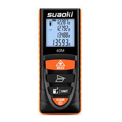 Suaoki Digital Laser Tape Measure 131 Ft
