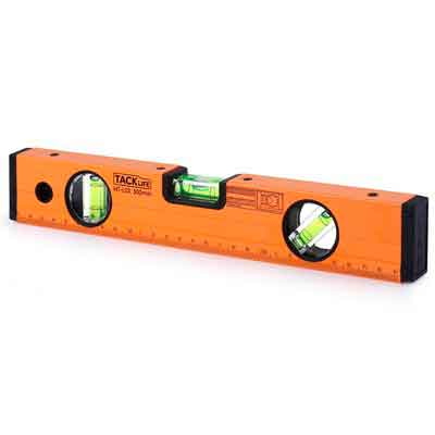 Tacklife MT-L03 12-Inch Level Aluminum Alloy Magnetic Torpedo Level Plumb/Level/45-Degree Measuring Shock Resistant Spirit Level with Standard and Metric Rulers