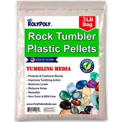 Plastic Poly Pellets Rock Tumbling Media