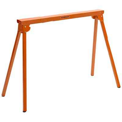 All Steel Folding Sawhorse - Pair Portamate PM-3300T. TWO 33-Inch Tall Fold-up Heavy Duty Saw Horses. Fully Assembled