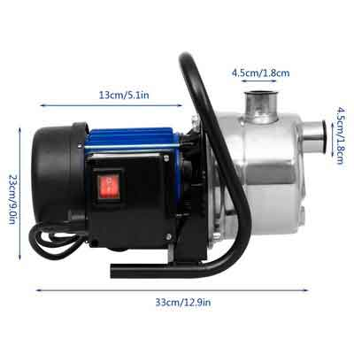 1.6HP Booster Pump Stainless Shallow Well Pump