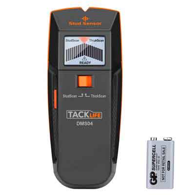 Tacklife DMS04 Stud Sensor with Large LCD Display LED Indicator Multi-Wall Detector For Metal