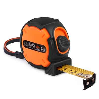 Tacklife TM-B02 Tape Measure 16Ft Measuring Tape Magnetic Hook Metric and Inches Retractable Measuring Tape with Wrist Strap