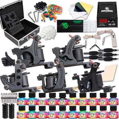 Dragonhawk Complete Tattoo Kit 5 Dragonhawk Mate Tattoo Machine Gun 20 Immortal Tattoo...