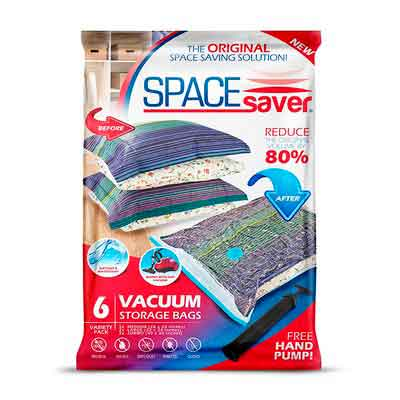SpaceSaver Premium Vacuum Storage Bags 6 Pack