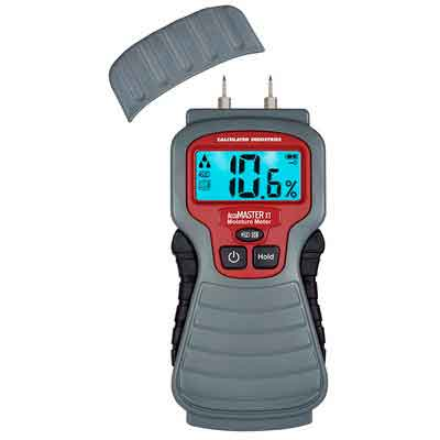 Calculated Industries 7440 AccuMASTER XT Digital Moisture Meter | Handheld |Pin Type | Backlit LCD Display | Detects Leaks
