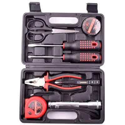 9 Pieces Home Tool Kit Set Hand Tools Storage Repairs Toolbox Household Toolkit