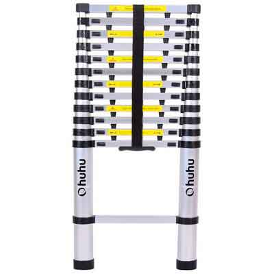 Ohuhu 12.5ft Aluminum Telescopic Extension Ladder